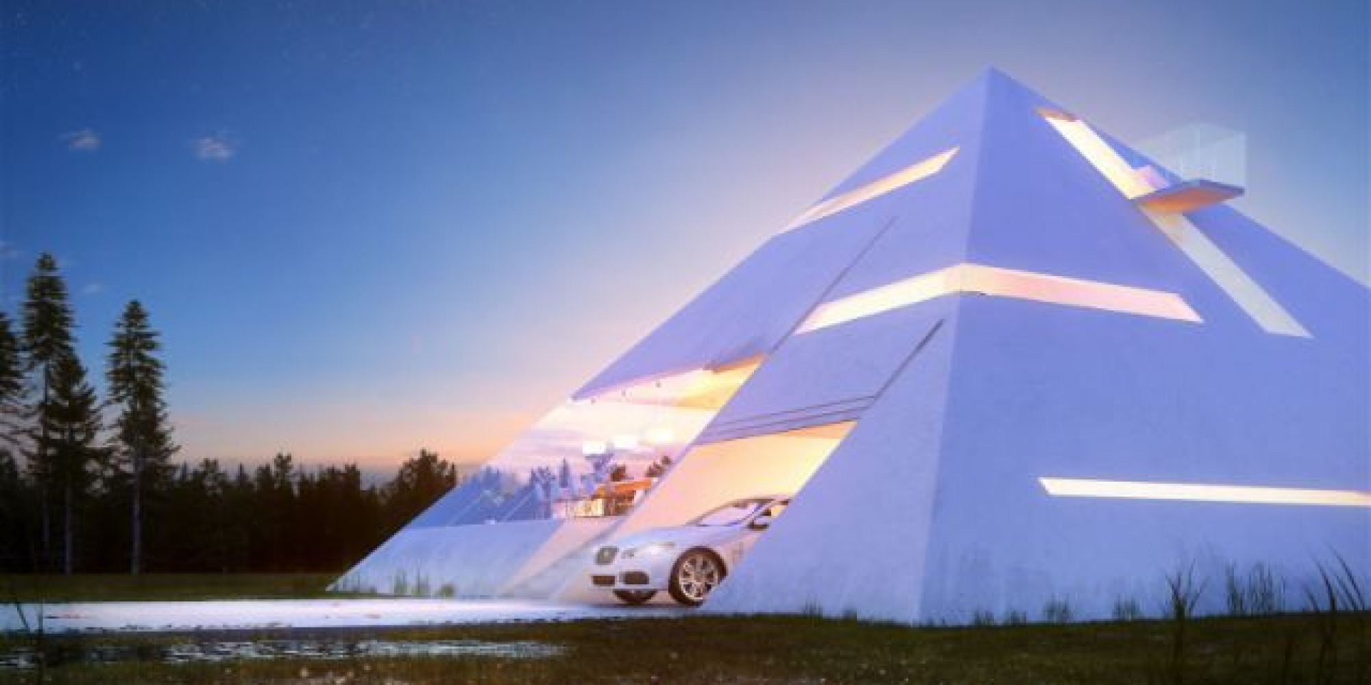 Pyramid House Plans The Pyramid House Would Belong In Ancient Egypt Or Modern Day Las