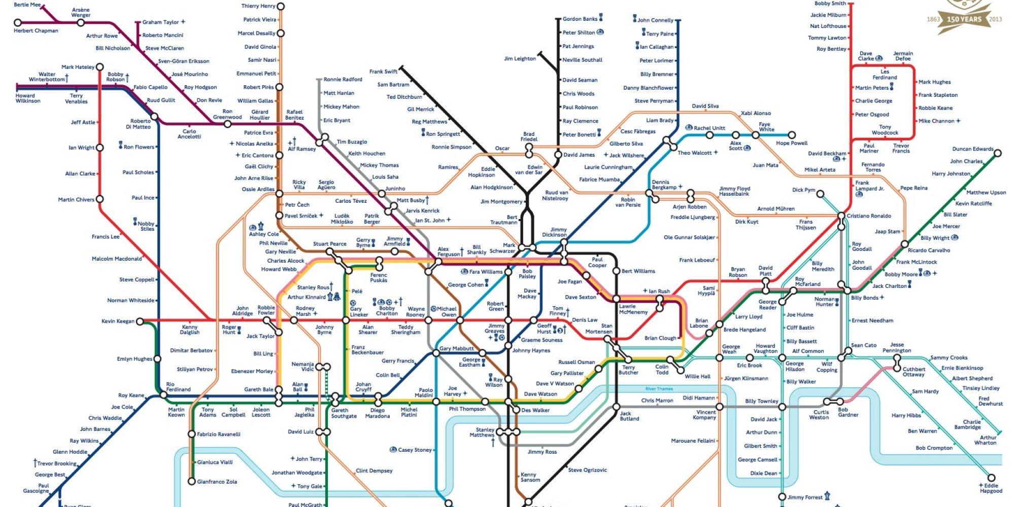 Map Of World Metro Londres
