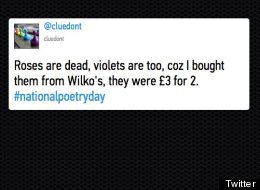 Funny #NationalPoetryDay Tweets