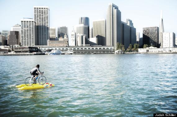 Man Uses Water Bike To Commute Across San Francisco Bay Hudson