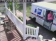 Laziest Postal Driver Ever Drives Over Lawn Instead Of Walking On Sidewalk (VIDEO)