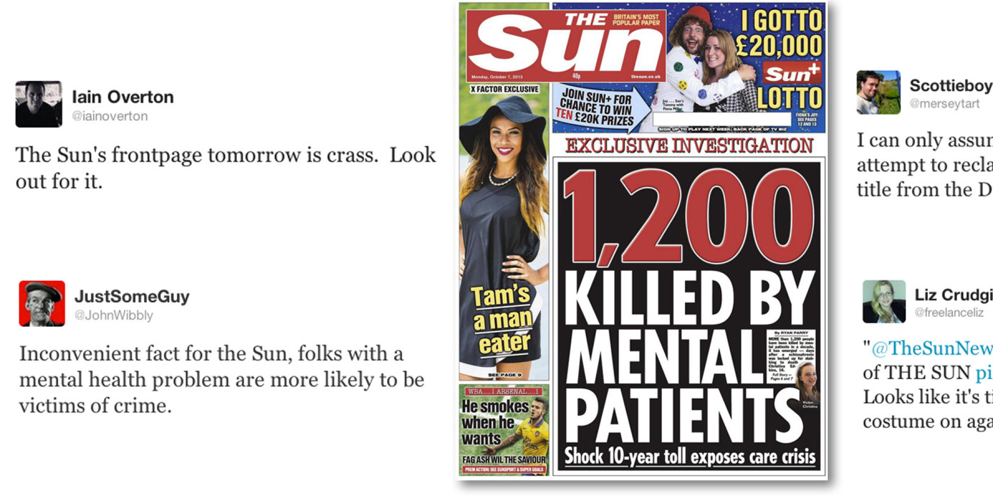 the sun front page angers mental health campaigners