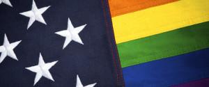 RAINBOW AMERICAN FLAG