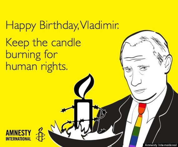 Vladimir Putin We Got You A Very Special Birthday Present Huffpost