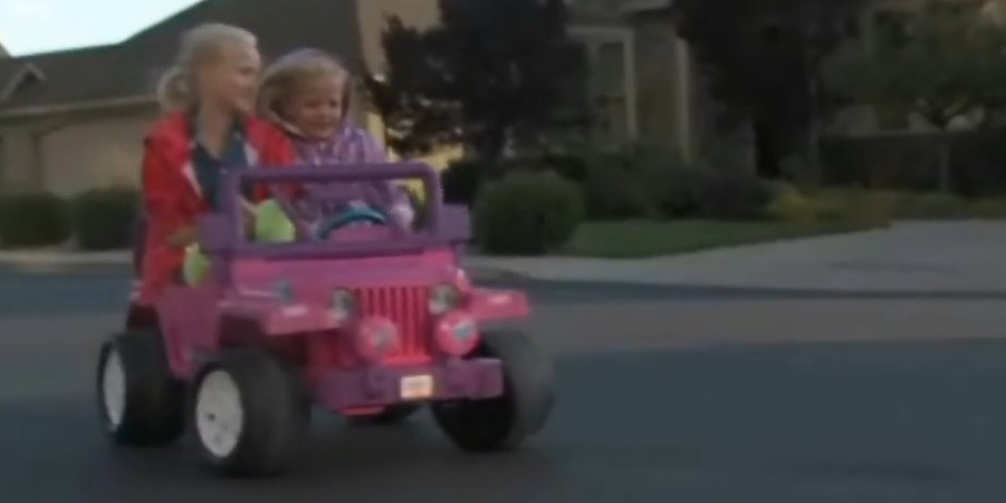 Pink barbie jeep ticketed #4