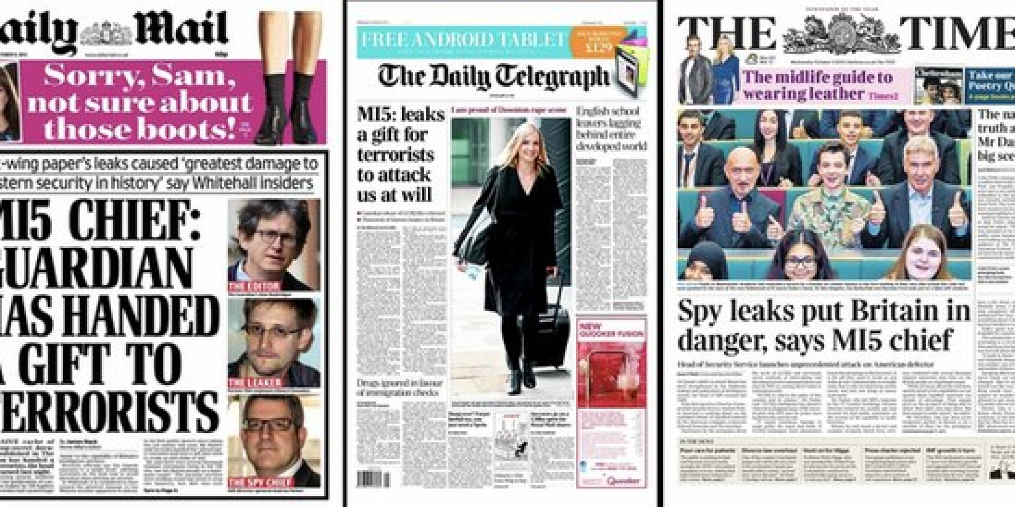 Mi5 Chief Attacks The Guardian National Newspapers