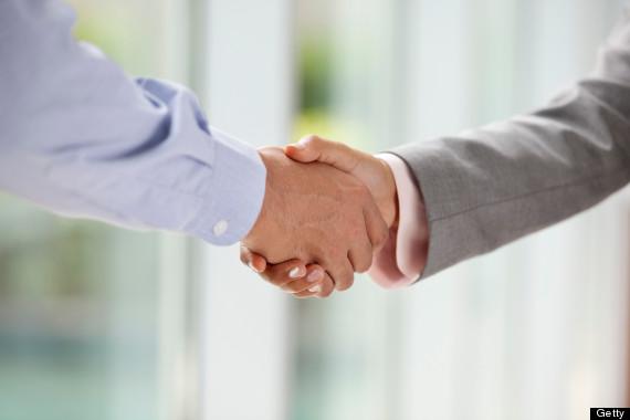 shake hands work