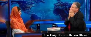 Malala Jon Stewart