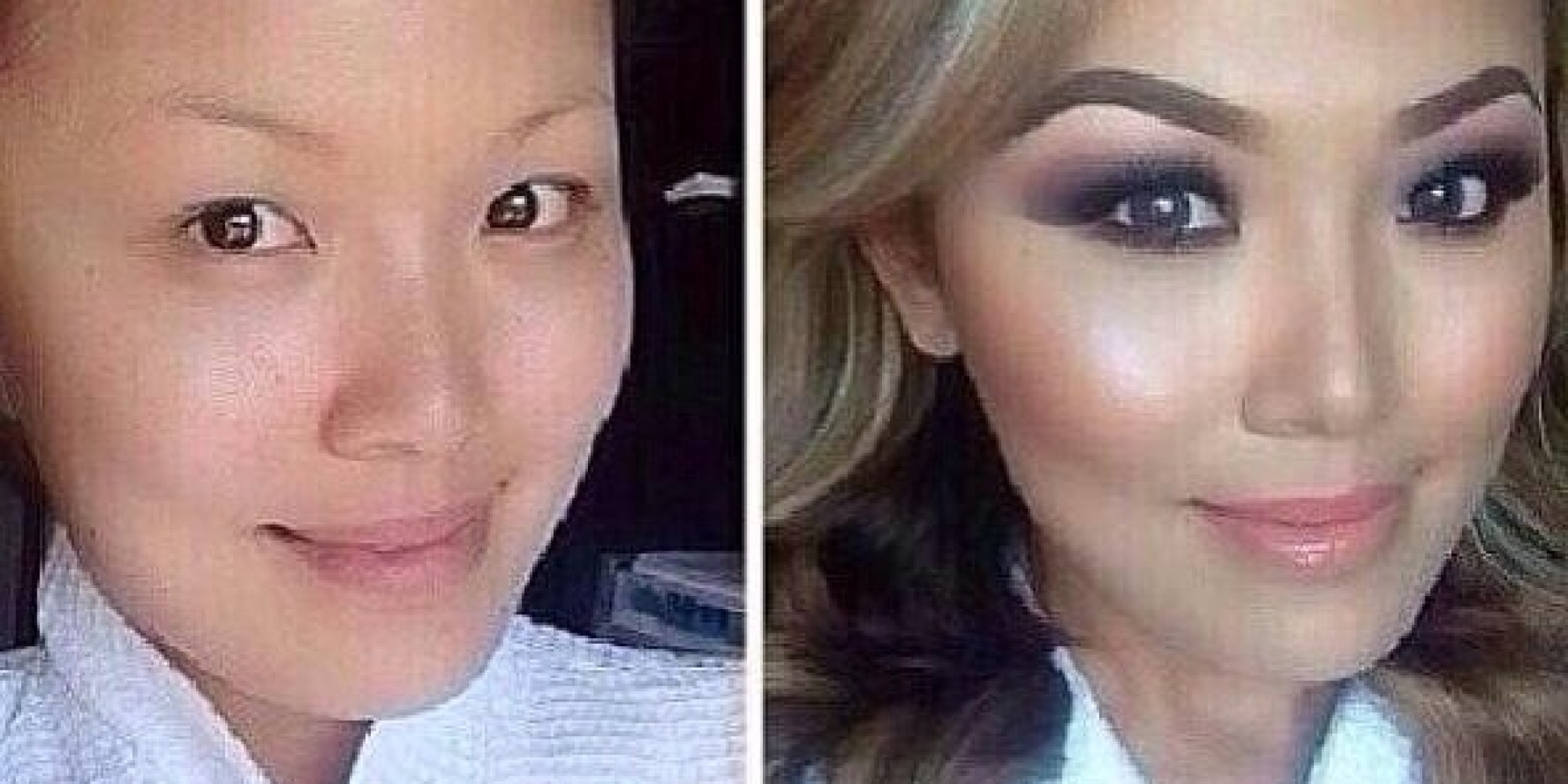 Before-And-After Makeup Photo Shows Woman's Stunning ...