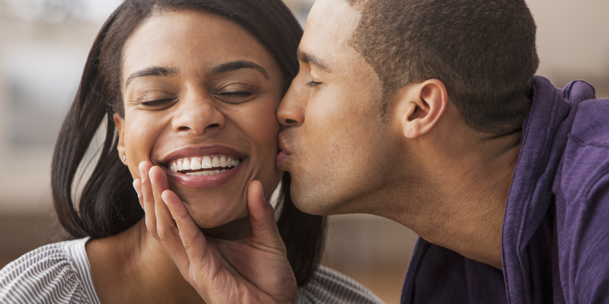 Black People Kissing