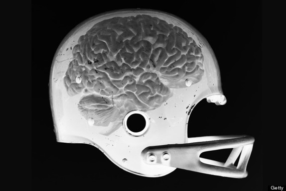 football helmet brain