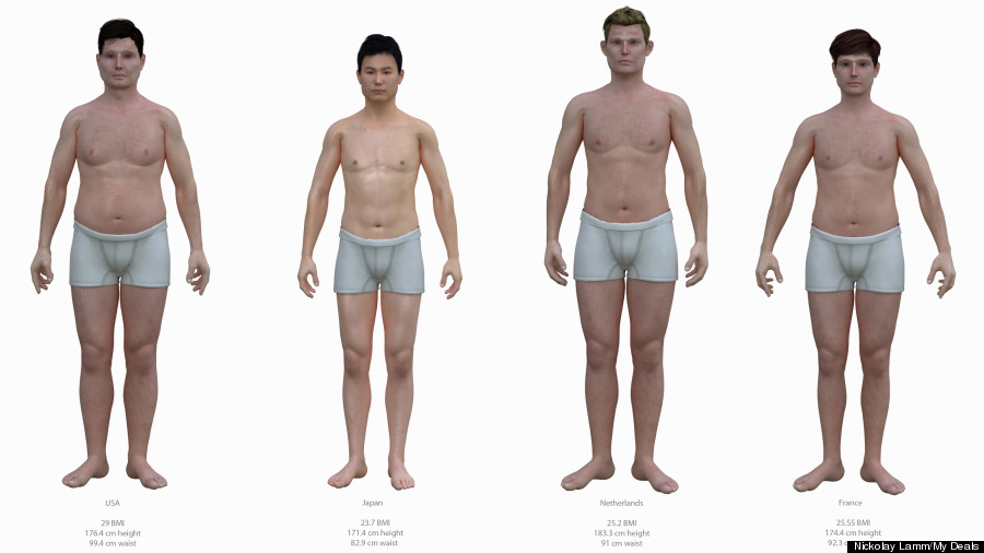 Average American Male's Body Compared To Bodies Of Men ...