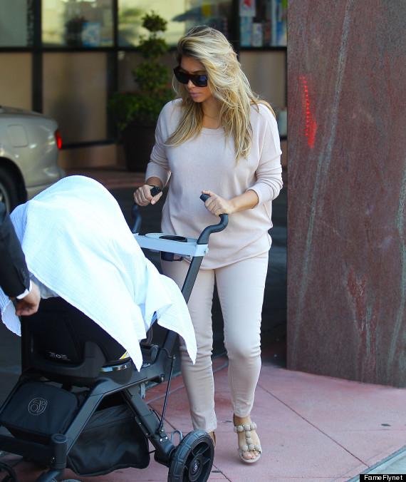 Kim Kardashian 2013 After Baby Blonde kim kardashian goes even blonder ...