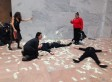 Occupy Monsanto Protest Tossed Real Piles Of Money Around Congress