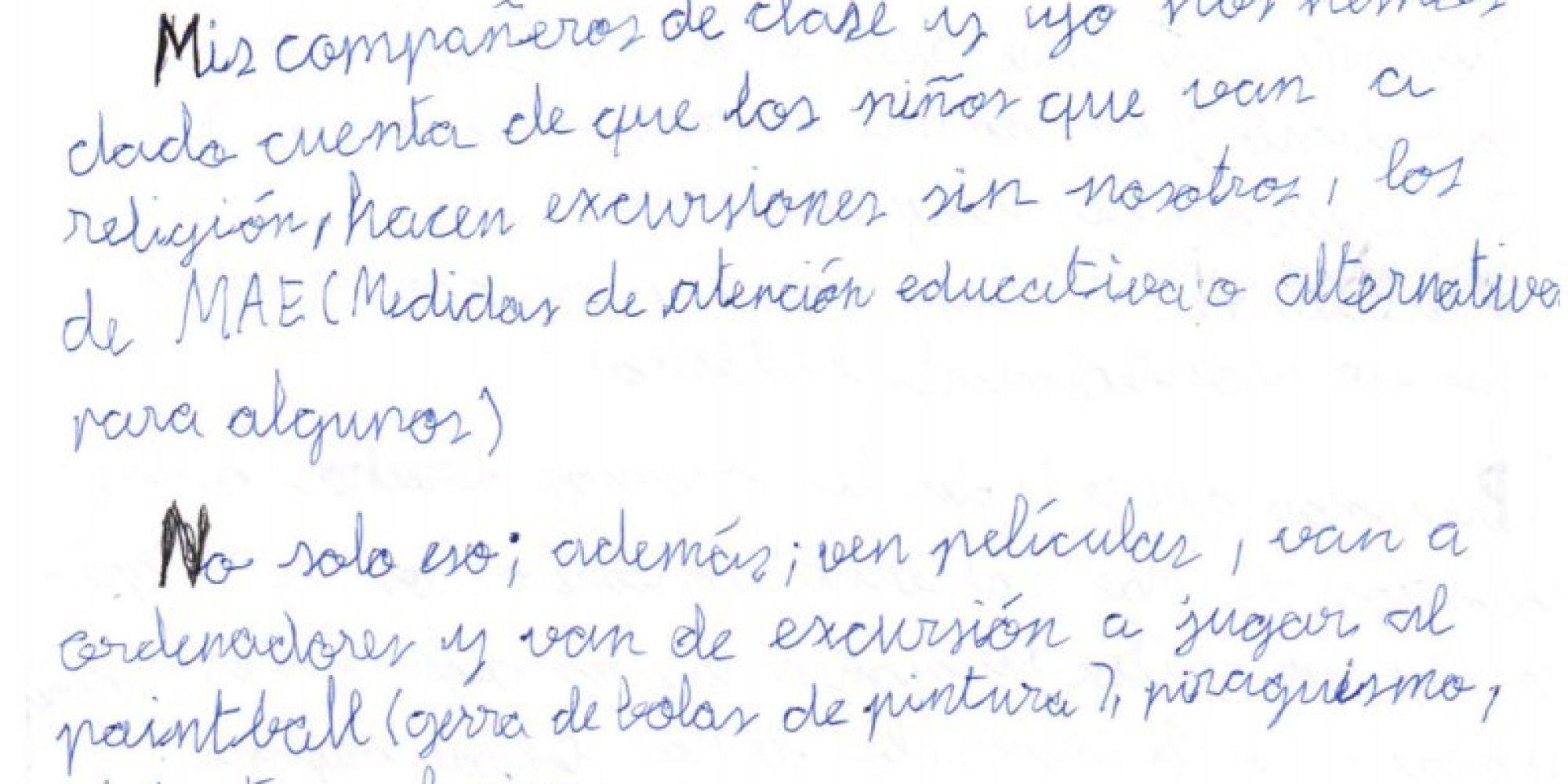 """La carta indignada de un niño de 1º de la ESO: """"La clase de"""