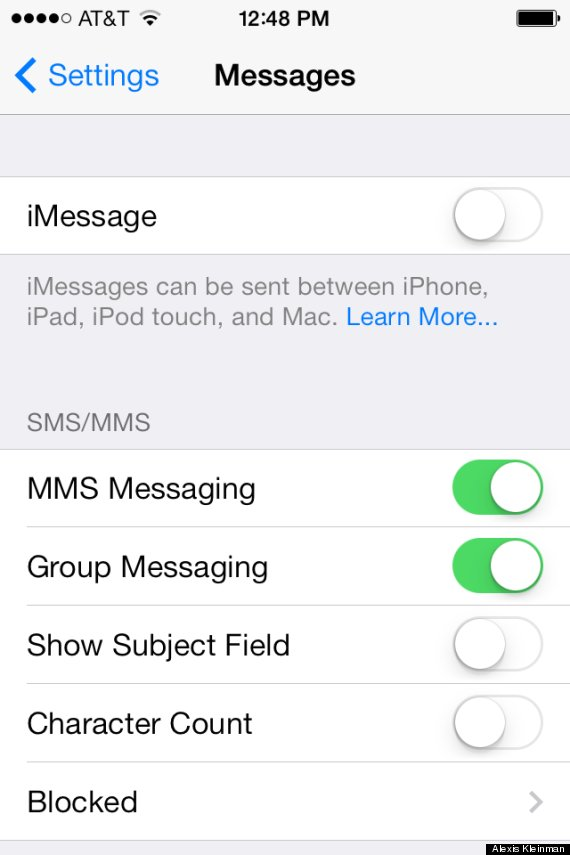 Heres how everybody says you can fix the imessage bug in ios 7 imessage ios 7 altavistaventures Choice Image