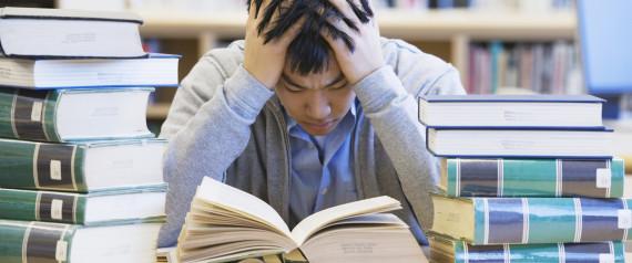 STRESSED COLLEGE STUDENT