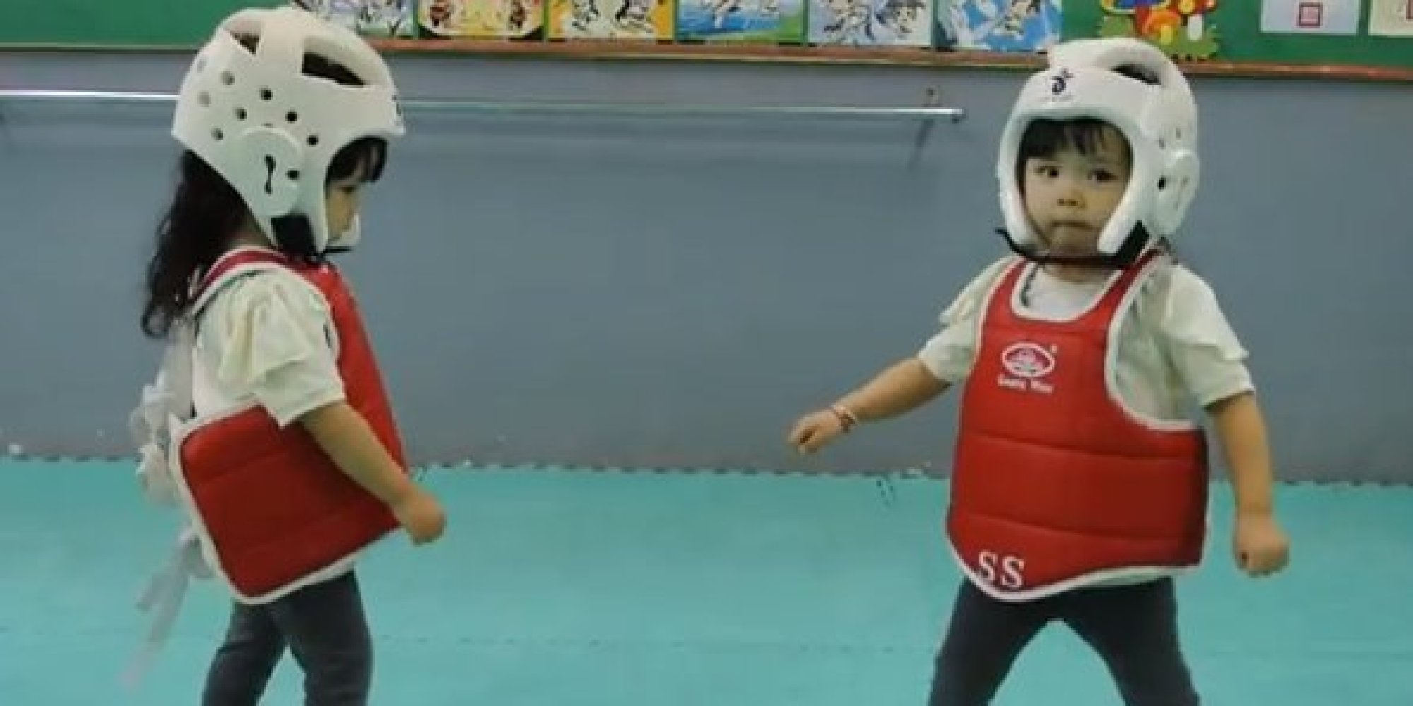 Toddler taekwondo