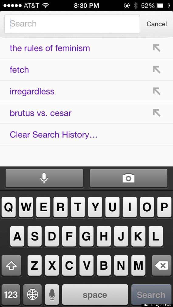 gretchen weiners google history
