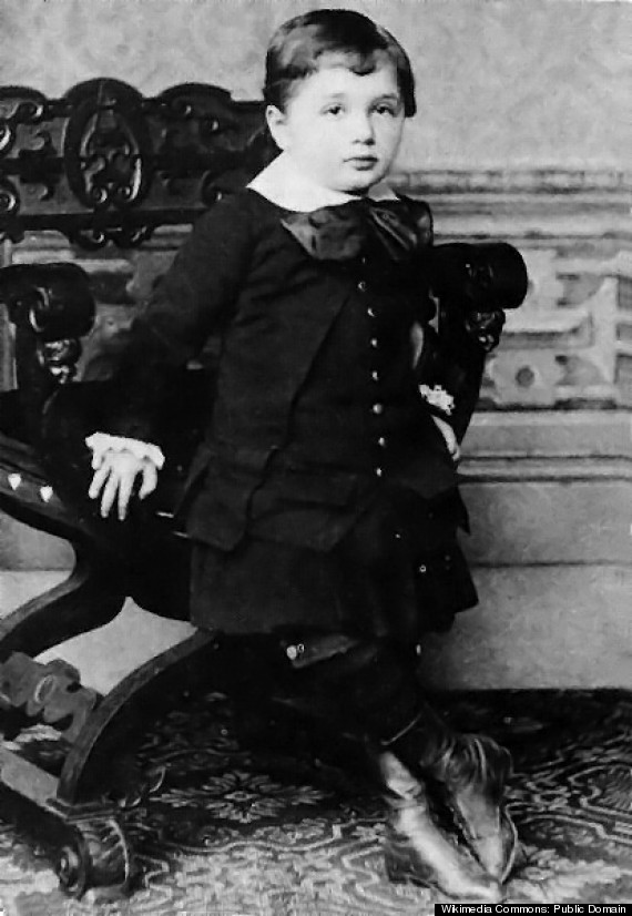 albert einstein baby photo