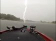 Lighting Strikes Right In Front Of Boat, Barely Missing Fisherman