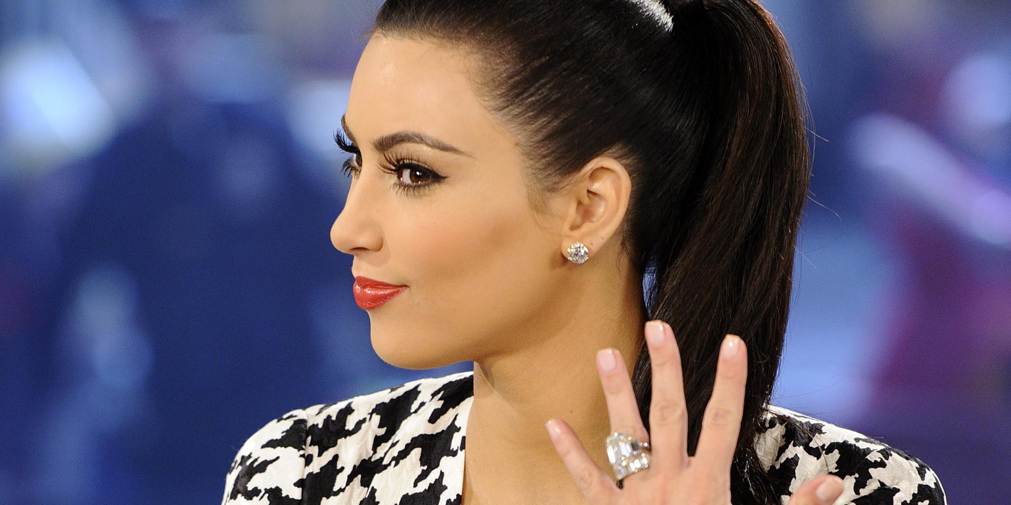 Kim Kardashian And Kanye Wedding Ring