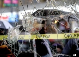 Olympic Protests Windows Smashed Vancouver