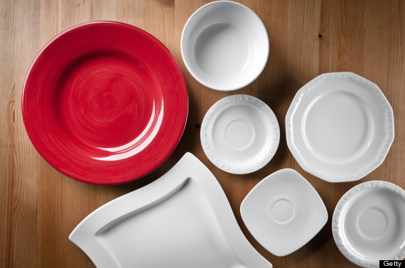 red plate