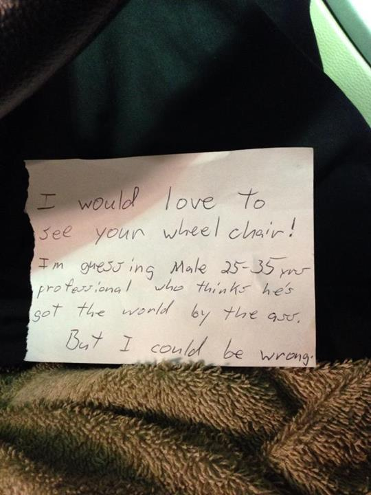 wheelchair note