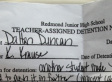 Awesome Kid Gets Detention For Being Hilarious (PICTURE)