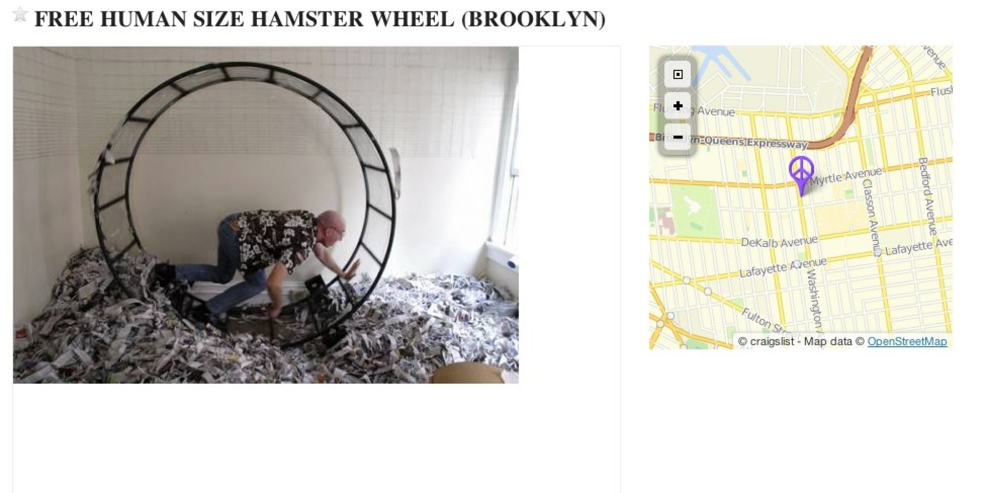 This Human Hamster Wheel Could Be Yours For Free, If You ...