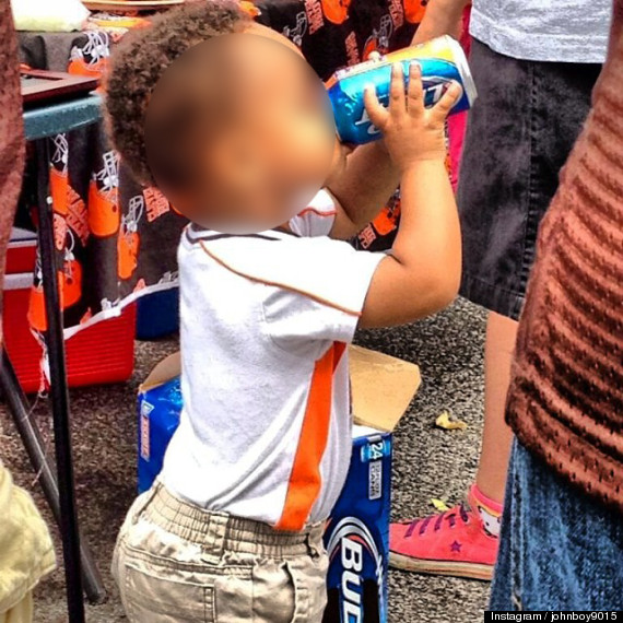 toddler drinking bud light