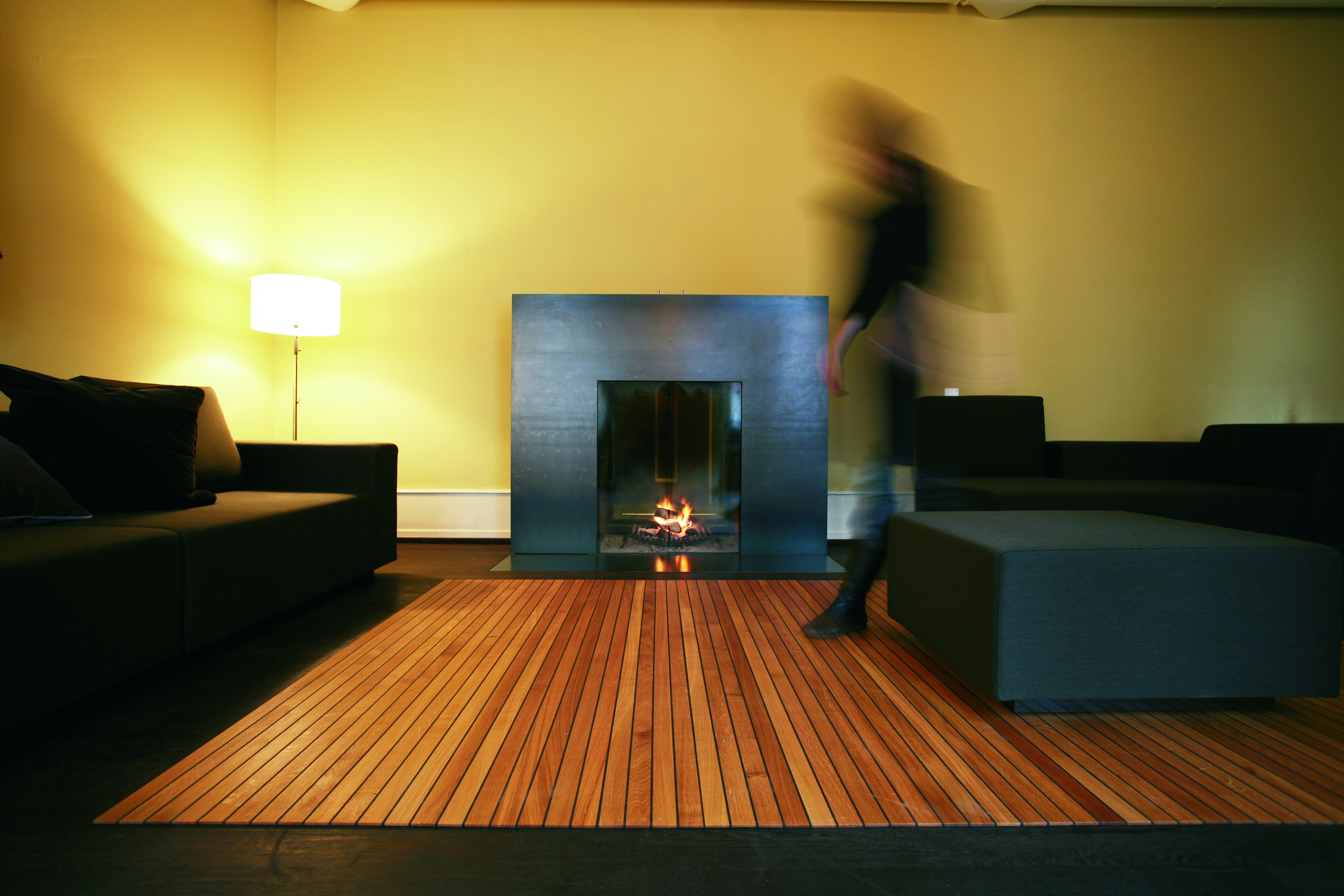 Roll Up Wooden Flooring Legno Carpet