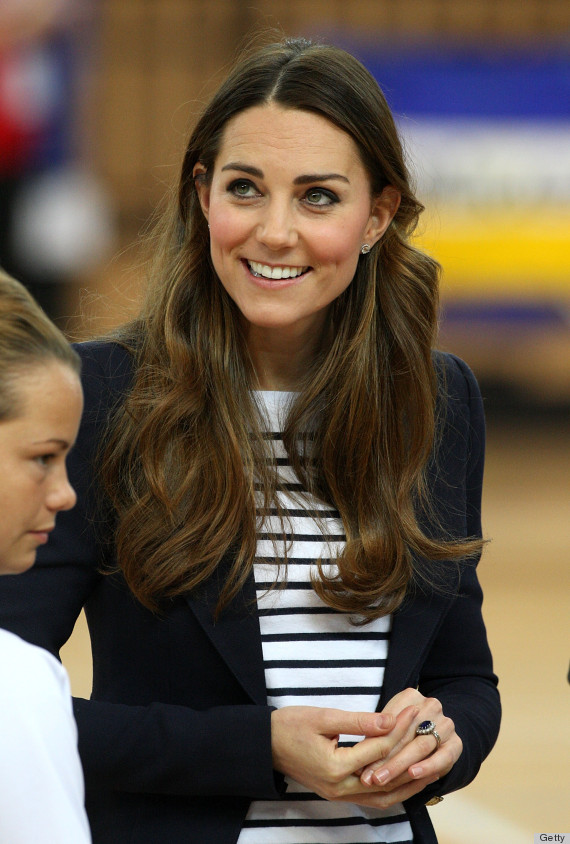 Kate Middleton Plays Volleyball In Wedges At First Solo