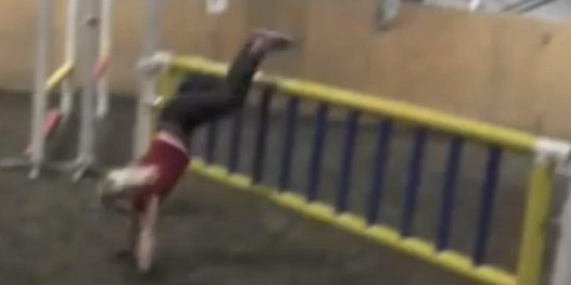 Girl Horses Girl Jumping Like a Horse