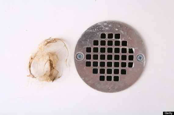 hair in the drain