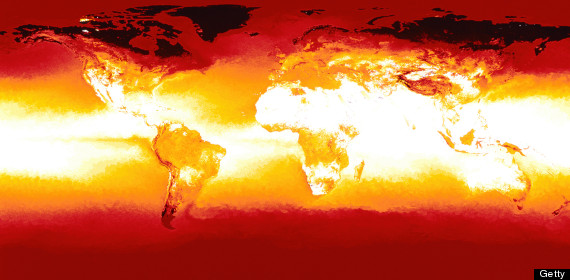 climate change map of world