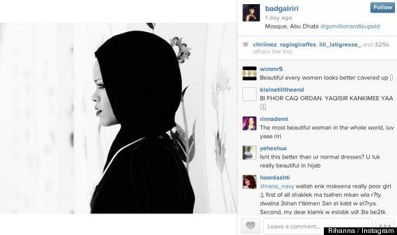 rihanna hijab