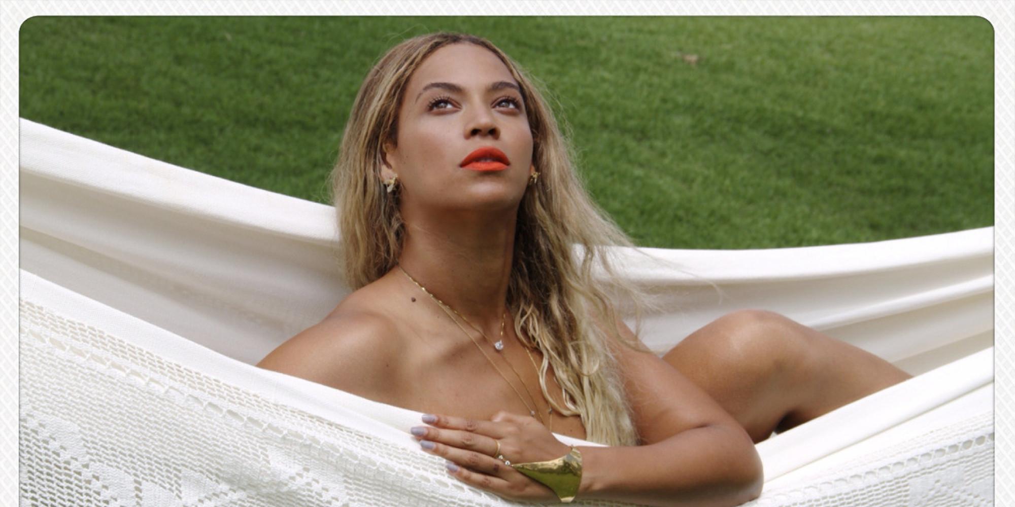 Beyonce posing naked