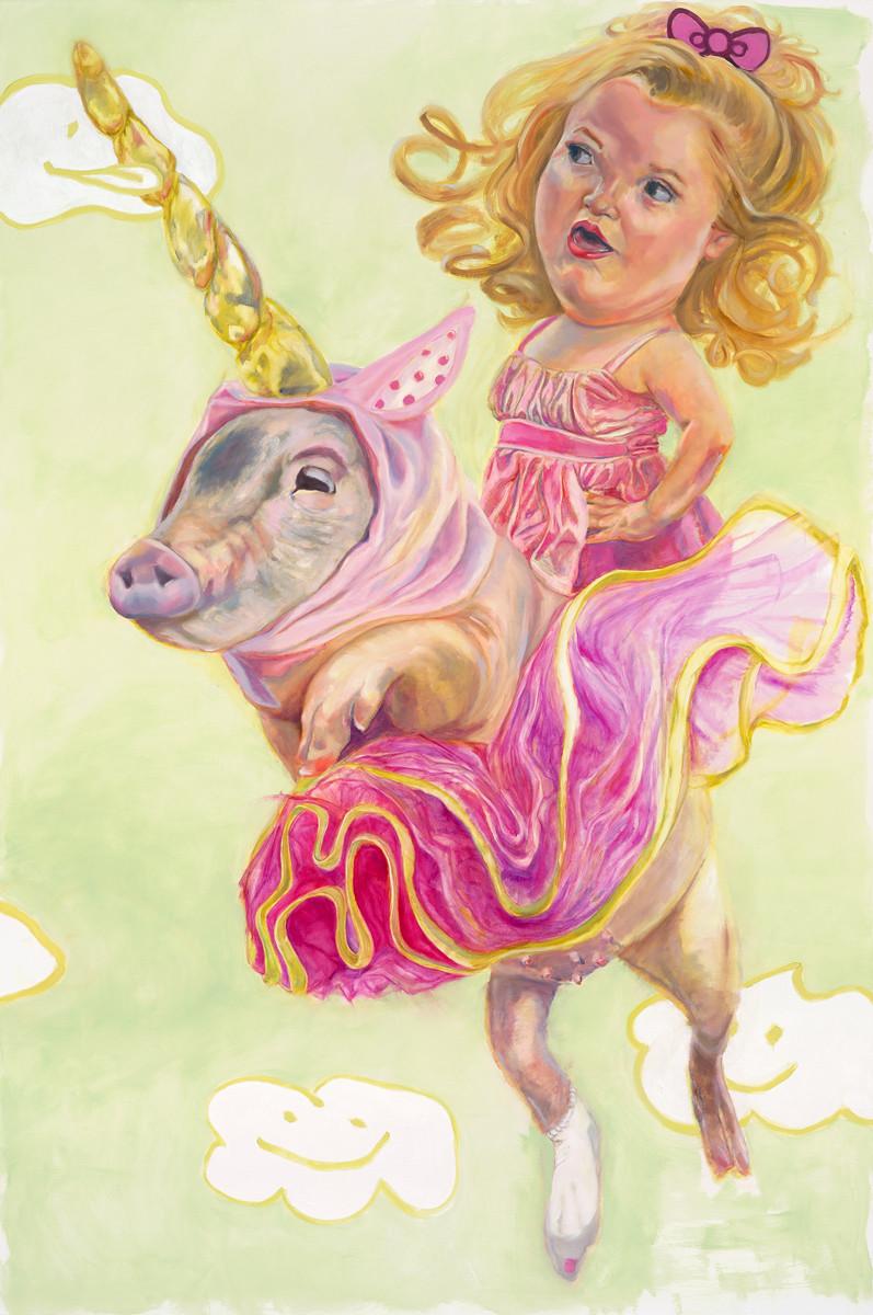 """Nip Slip oil on canvas, 64x96"""" 2013"""
