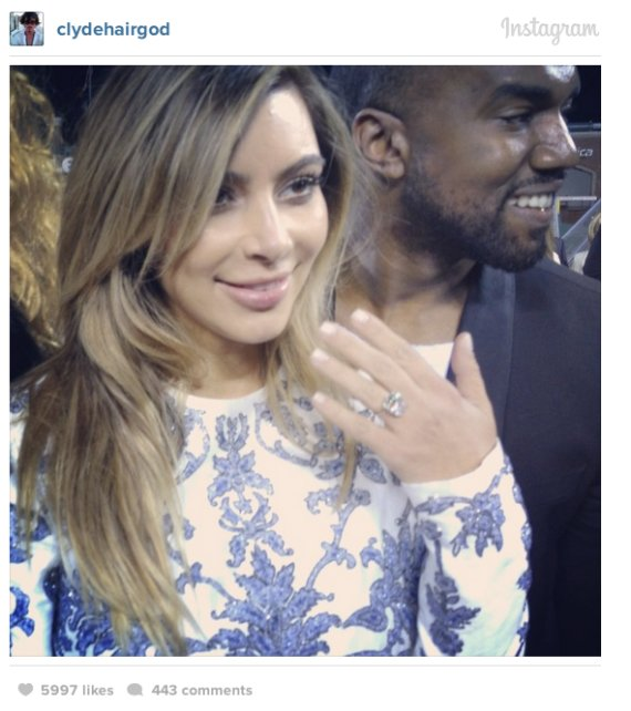 picture of kim kardashian ring from kanye