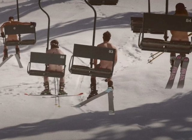 Les Dieux du ski poil, moniteurs et monitrices se