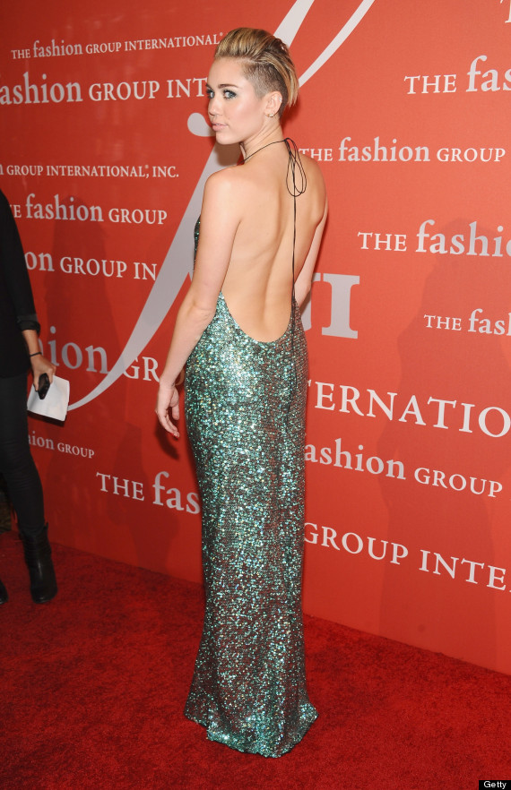 miley cyrus backless