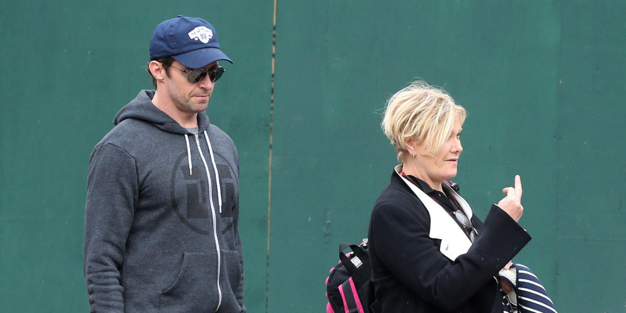 Hugh Jackman S Wife Deborra Lee Furness Flips The Bird