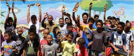 Indosole Shoes Ease Bali Landfill Problem One Motorbike