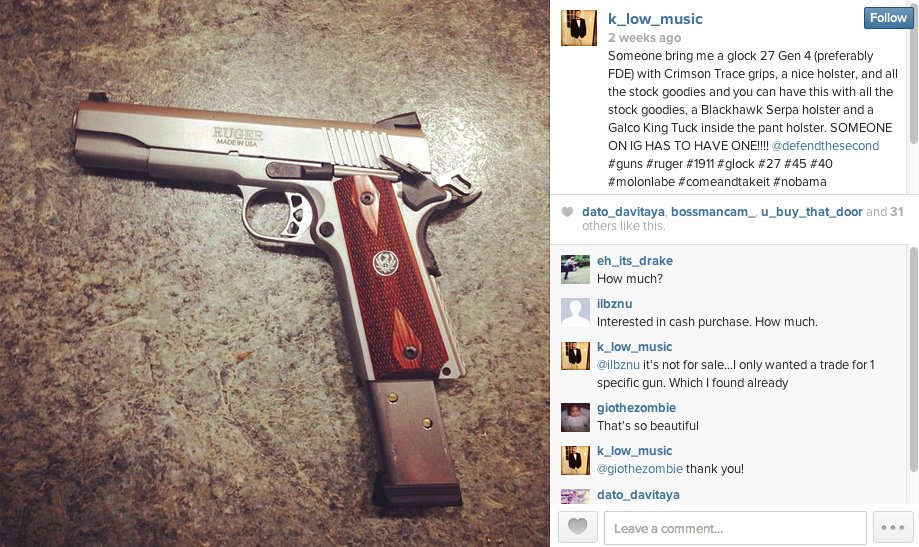 instagram gun