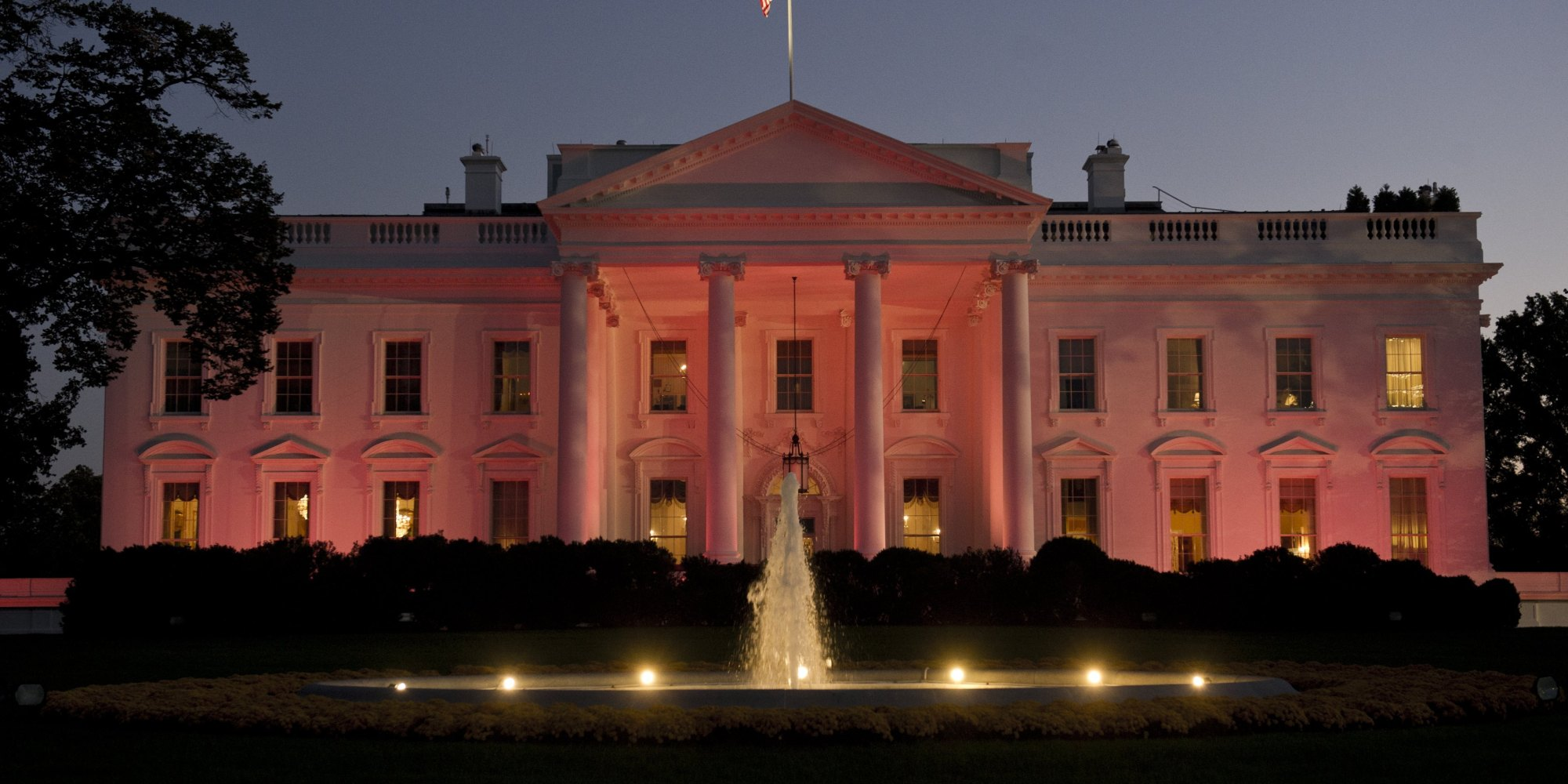 White House Goes Pink For Breast Cancer Awareness Month ...