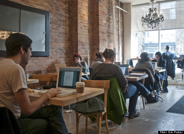 coffee shop laptops