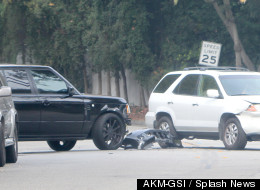 David Beckham In LA Car Crash