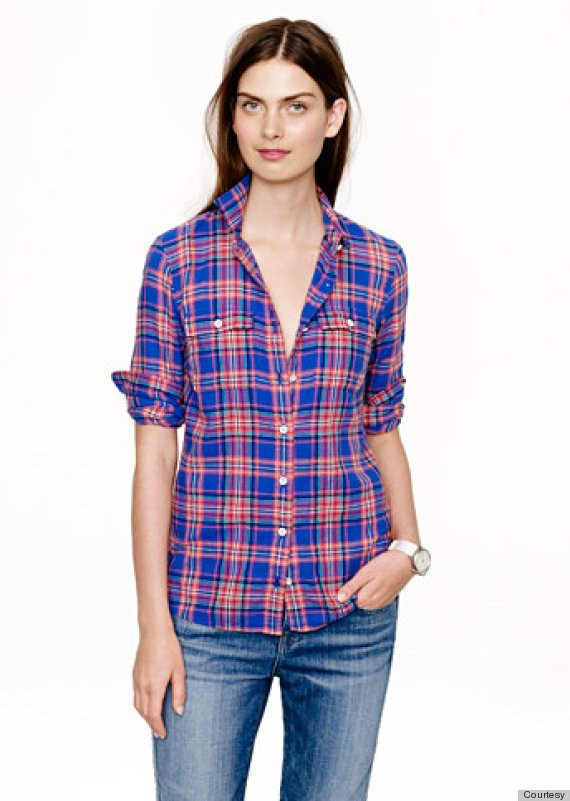 Boy Shirt In Tropical Plaid J Crew